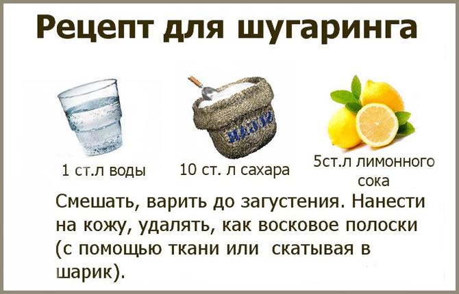 Рецепт для шугаринга